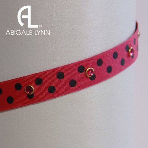 Abigale Lynn Visor Band - Raspberry 2 Dot