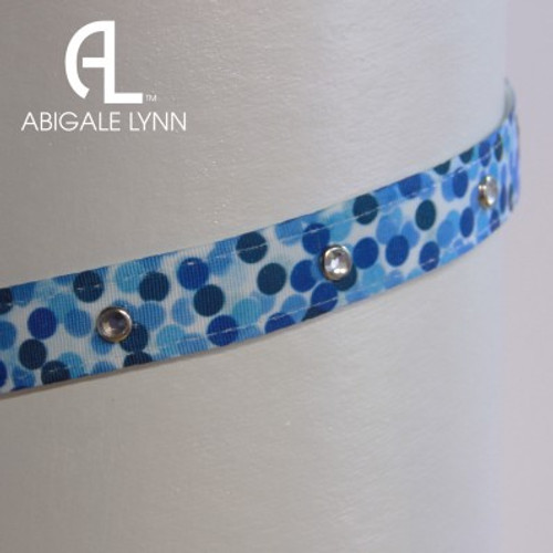 Abigale Lynn Visor Band - Water Dots