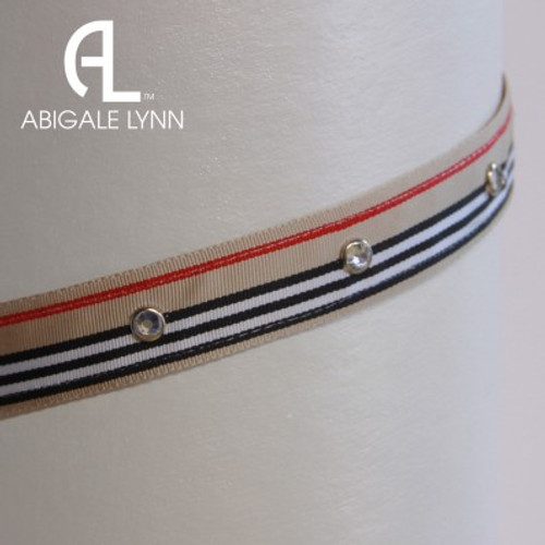 Abigale Lynn Visor Band - Madison Avenue Stripe