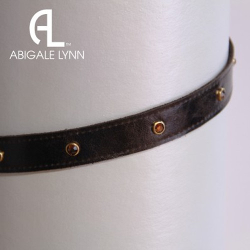 Abigale Lynn Visor Band - Espresso Leather