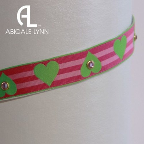 Abigale Lynn Visor Band - Lime Solid Heart