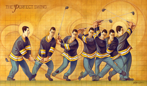 David O'Keefe: The Perfect Swing - A Tribute to Happy Gilmore - 22x13 Print