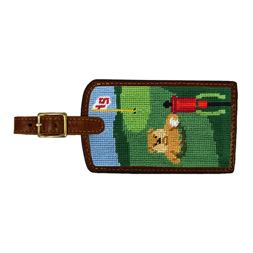 Smathers & Branson: Luggage Tag - Gopher Golf Needlepoint