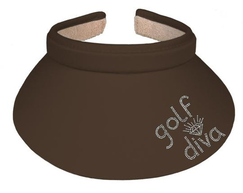 Titania Golf: Women's Clip on Visor - Golf Diva