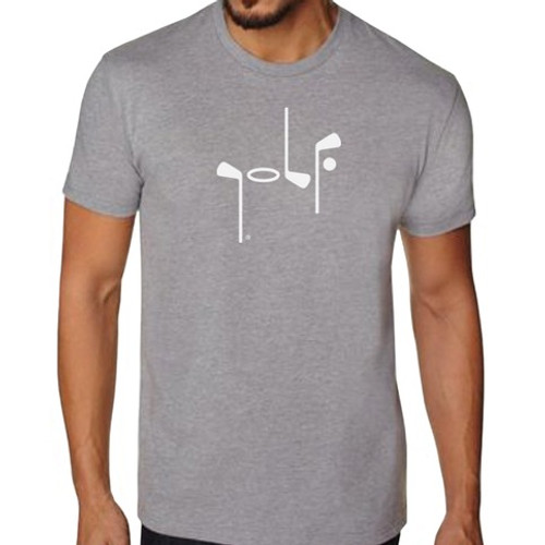 It Says Golf: Mens Premium T-Shirt - Heather Gray