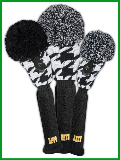 Just 4 Golf: Loudmouth Headcover Set - Oakmont Houndstooth