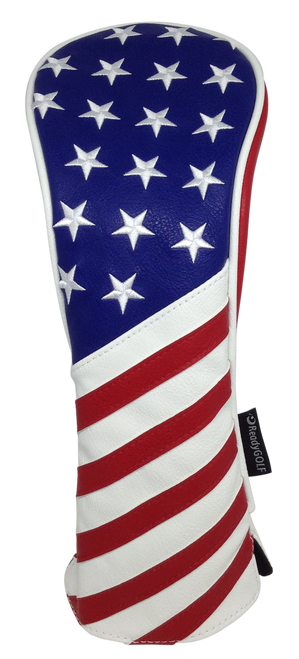 USA Flag Embroidered Headcover by ReadyGOLF - Fairway