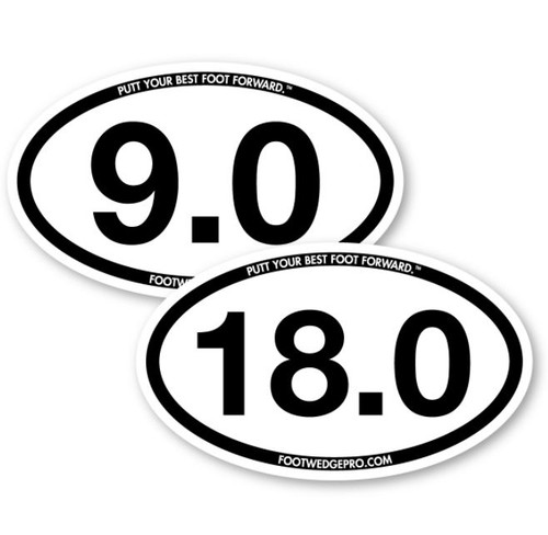 Foot Wedge Pro Car Decal 9 and 18 Hole Combo Pack