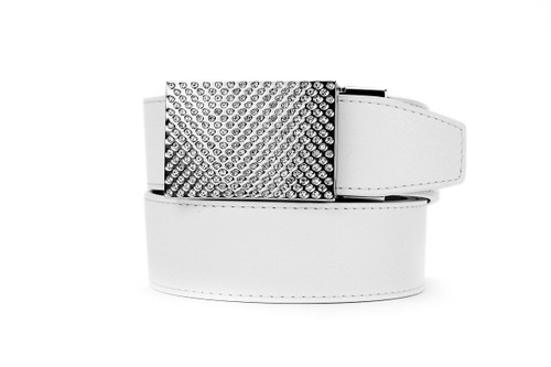 Nexbelt: Women's Gem Series Golf Belt - White