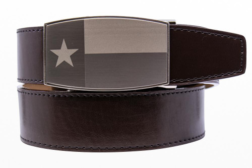 Nexbelt: Men's Heritage Series Dress Golf Belt - Texas Pewter Aston Espresso