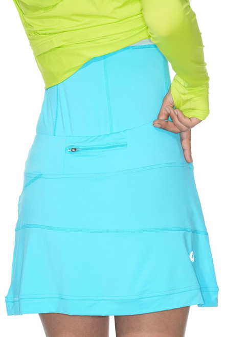 BloqUV: Women's UPF 50 Banded Skort 6030 (Light Turquoise) - Size MEDIUM