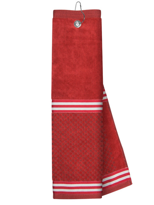 Just 4 Golf: Red Towel with Ribbon