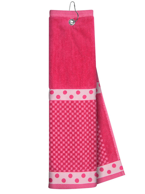 Just 4 Golf: Pink Towel with Ribbon
