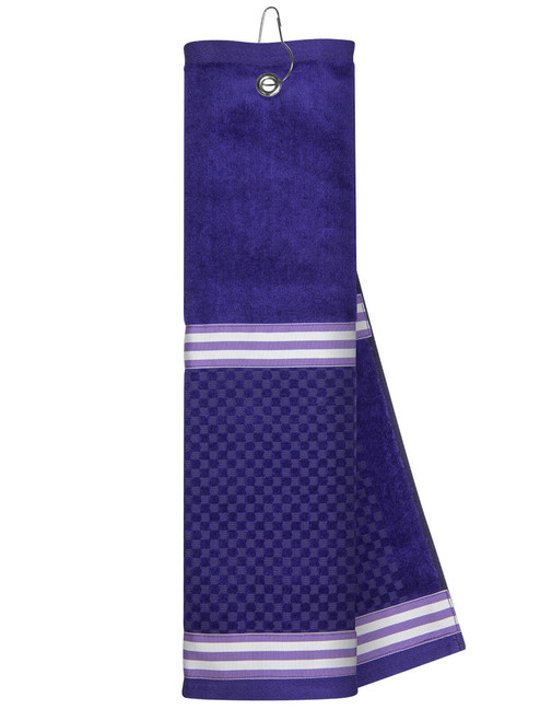 Just 4 Golf: Purple Towel with Ribbon