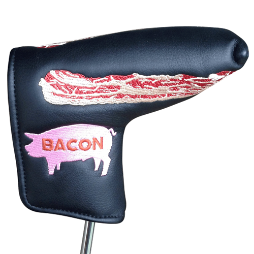 Bacon Embroidered Putter Cover by ReadyGOLF - Blade