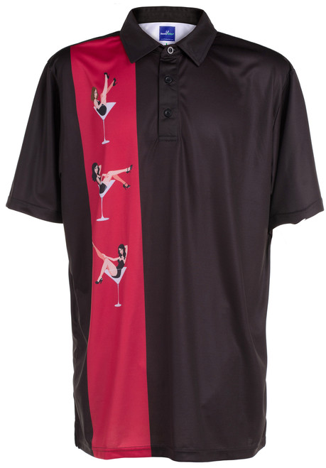 Martini Girls Mens Golf Polo Shirt by ReadyGOLF