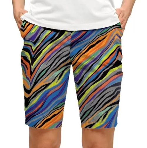 Loudmouth Golf Womens Bermuda Shorts: Jungle Bogey StretchTech*