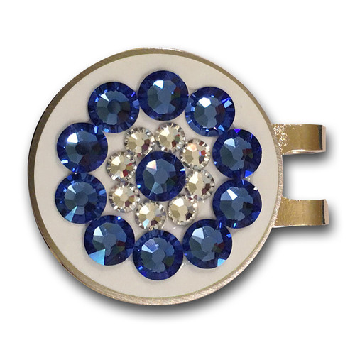 Blingo Ball Markers: Sapphire on White