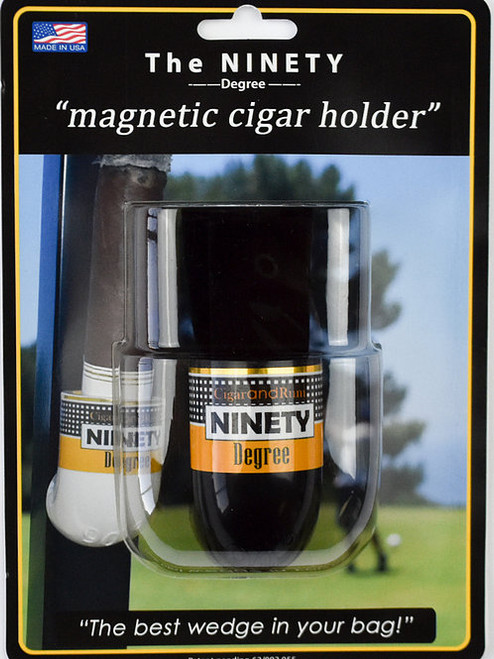 The Ninety Degree Wedge: Magnetic Cigar Holder - Black