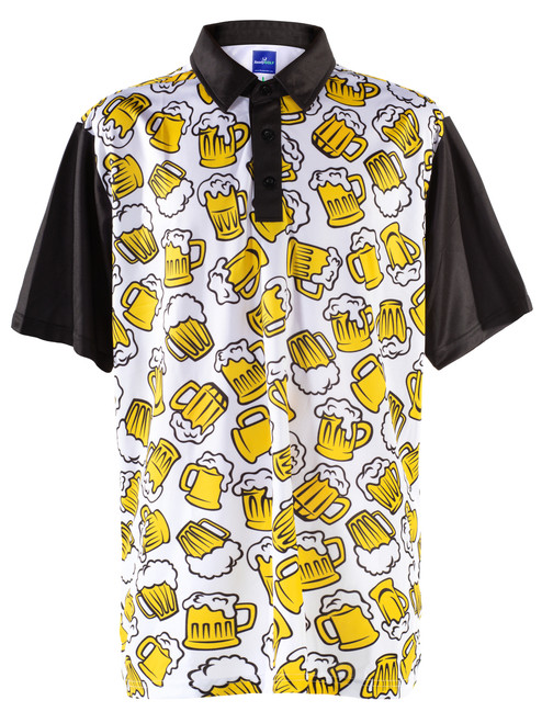 ReadyGOLF Mens Golf Polo Shirt - Beer Me