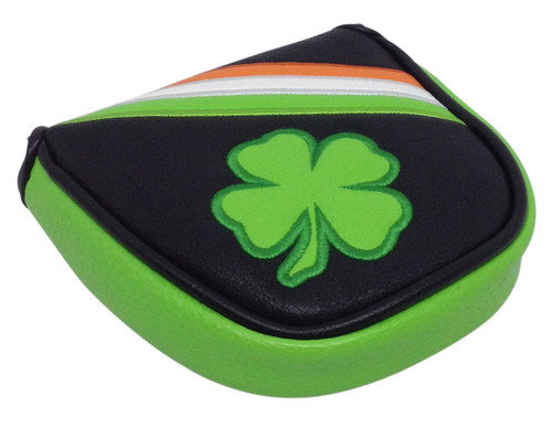 Irish Shamrock Embroidered Putter Cover by ReadyGOLF - Mallet
