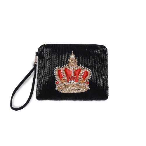 Physician Endorsed: Womens Bag/Clutch - Balmoral Crown - Black