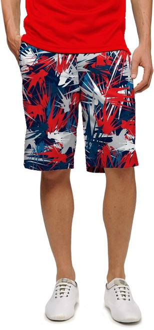 Loudmouth Golf: Men's StretchTech Shorts- Icicles