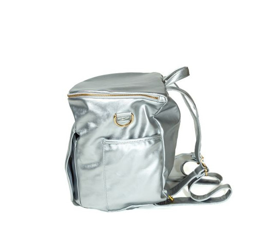 Sassy Caddy: Ladies Day Pack - Metallic Silver Leather