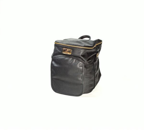 Sassy Caddy: Ladies Day Pack - Pebbled Black Leather