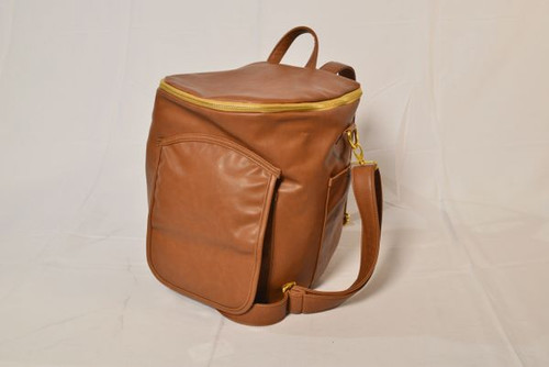 Sassy Caddy: Ladies Day Pack - Honey Brown Leather