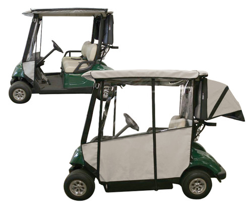 Club Pro: Yamaha Golf Cart Enclosure - 3-Sided Drive (2006-2016)