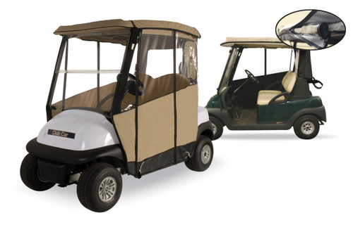 Club Pro: Club Car Golf Cart Enclosure - 3-Sided Precedent *Expected to Ship Late November*