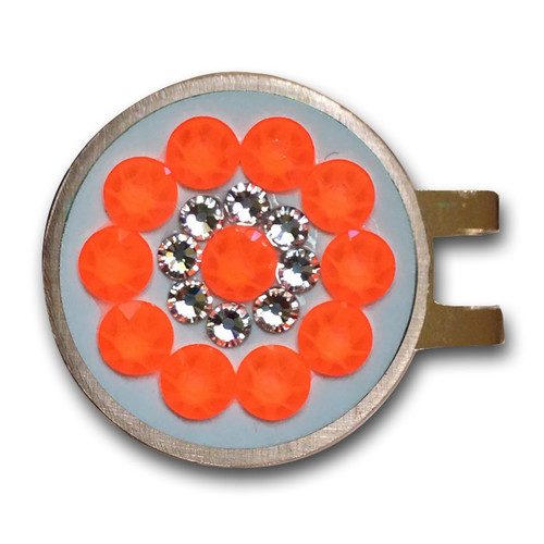 Blingo Ball Markers: Electric Orange on White