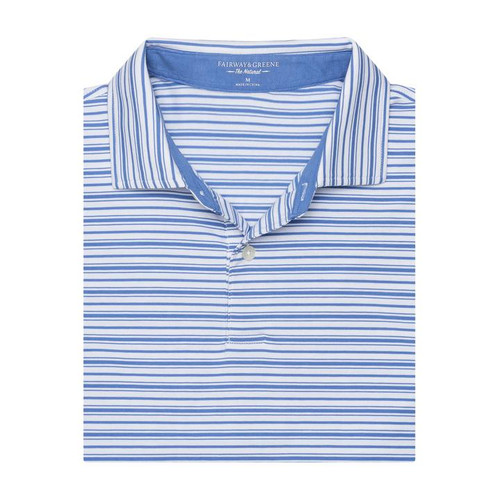 Fairway & Greene: Men's Port Royal Stripe Natural Jersey