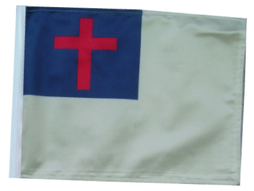 SSP Flags: 6x9 inch Golf Cart Replacement Flag - Christian