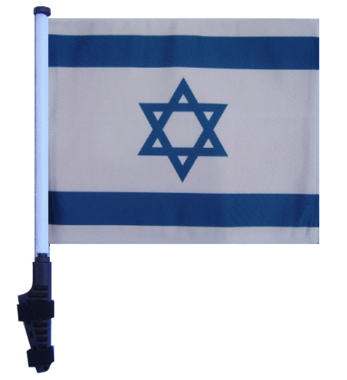 SSP Flags: 11x15 inch Golf Cart Flag with Pole - Israel