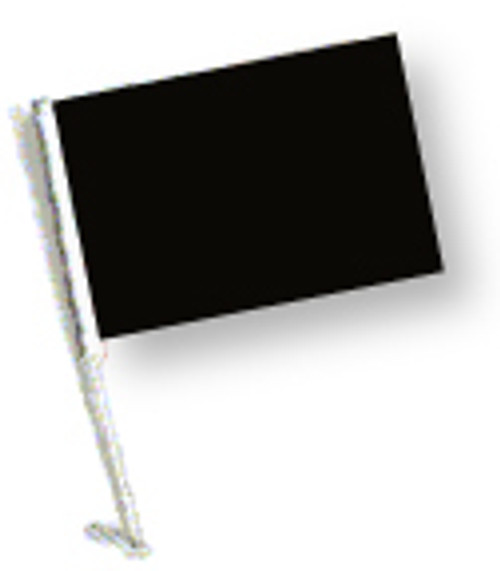 SSP Flags: Car Flag with Pole - Black