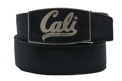 Nexbelt: Men's Cali California Dreamin Canvas Strap Golf Belt - Black