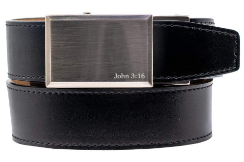 Nexbelt:  Specialty - Faith 3:16 Nickel Belt - Black