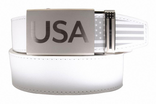 Nexbelt: Men's Super Patriot Belt - White