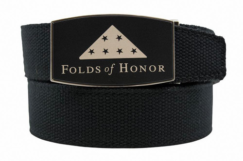 Nexbelt: Specialty - Folds of Honor Aston Black Canvas Strap Belt - Black