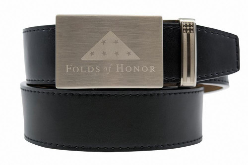 Nexbelt: Specialty - Go-In! Folds of Honor Nickel Smooth Strap Belt - Black