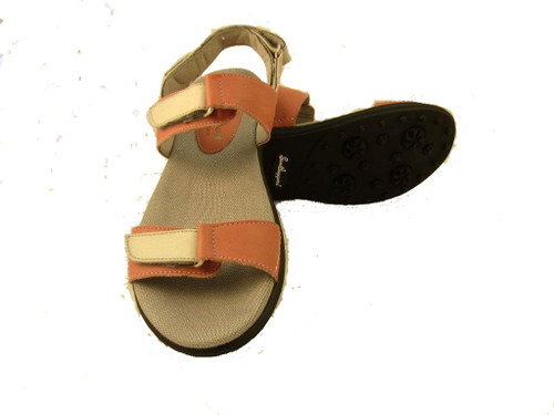 Sandbaggers: Women's Golf Sandals - Lola Coral