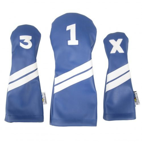 Sunfish: DuraLeather Headcovers Set - Blue with White Stripes