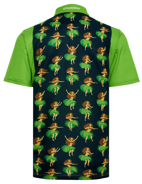 Hula Girls Mens Golf Polo Shirt by ReadyGOLF