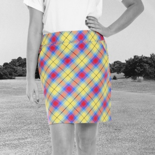 Royal & Awesome Women's Golf Skorts - Plaid Awesome Tartan