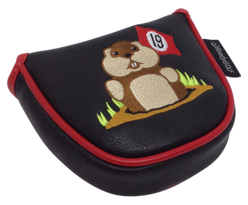 19th Hole Gopher Embroidered Putter Cover by ReadyGOLF - Mallet
