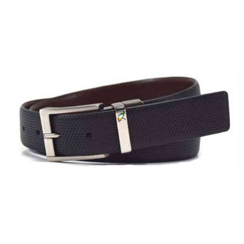 Arnold Palmer: Men's Diamond Twist Reversible Belt - Black/Brown