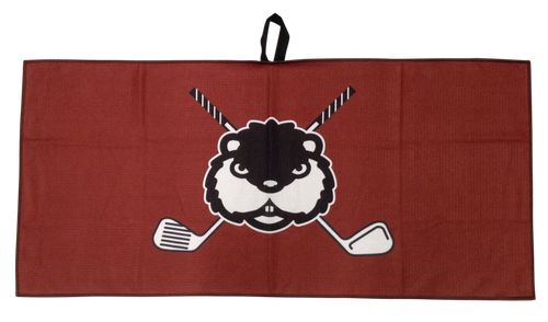 Cross Clubs Gopher Waffle Golf Towel by ReadyGOLF