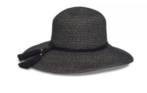 Physician Endorsed: Women's Adjustable Sun Hat - Devon (Black Tweed)